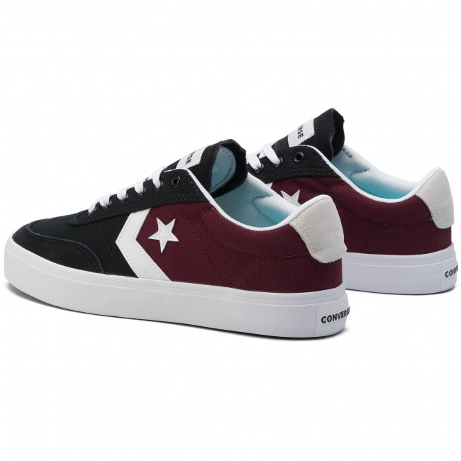 164060c Courtlandt q2 Dark black Burgundy 2019 Converse Ox Sneakers Homme Basses Spring summer white Chaussures n8POkX0w