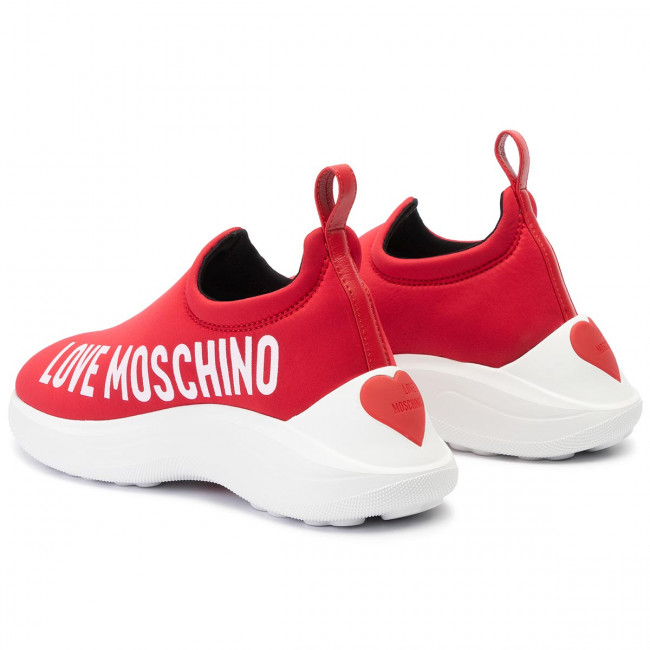 Sneakers Fall Ja15206g18io0500 Love Chaussures Femme winter Moschino Rosso 2019 Basses Pre IYfb67gyv