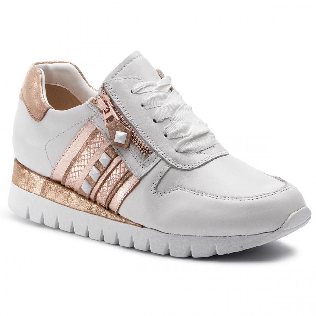 2019 rosegold 118 Femme summer 23701 Spring 9 Basses Sneakers 22 Chaussures White Caprice 54RLj3A