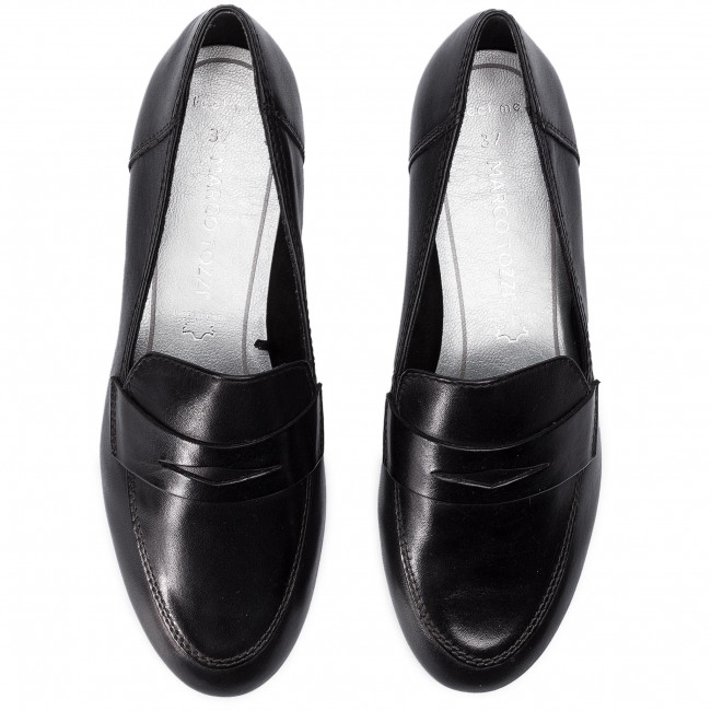 24240 2019 22 Spring Basses 2 001 Black Loafers Chaussures Femme summer Marco Tozzi wyOPvN8mn0