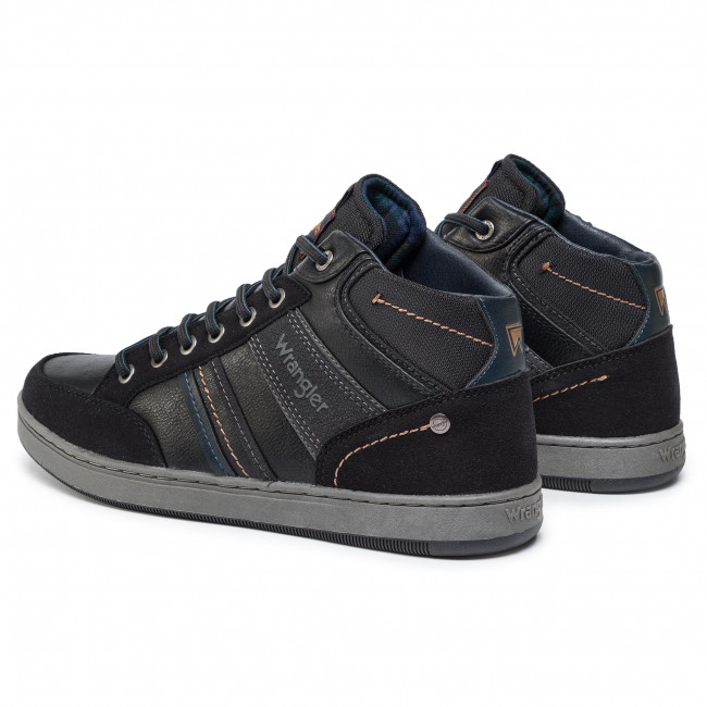 2020 Nouveau Chaussures homme Sneakers WRANGLER - Marshall Paso Mid WM92121A Black 062 - Sneakers - Chaussures basses - Homme n3rMB