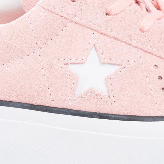 Officiel Chaussures femme Sneakers CONVERSE - One Star Platform Ox Bleached Coral/Black/White - Sneakers - Chaussures basses - Femme uNEWs