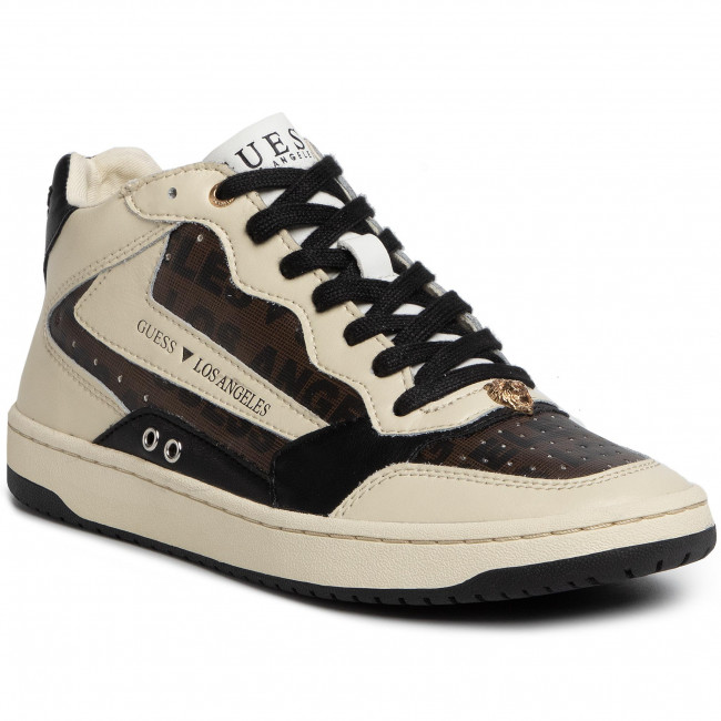 Express Rapide Chaussures homme Sneakers GUESS - Pesaro Mid FM7PEM FAL12 BLKGR - Sneakers - Chaussures basses - Homme 2xG4D