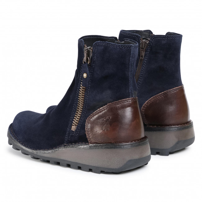 Grosses Soldes Chaussures femme Bottines FLY LONDON - Monfly P210944011 Navy/Dk. Brown - Bottines - Bottes et autres - Femme XO9co