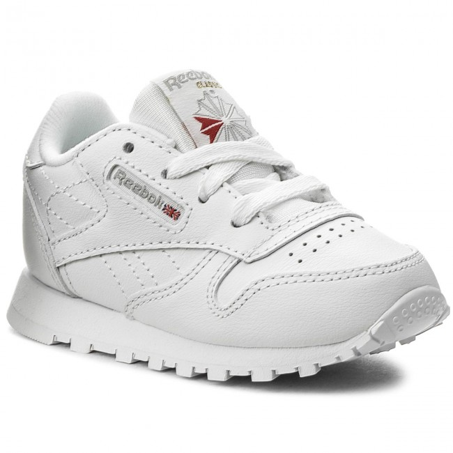 2019 Leather White Enfant Infants 50192 Reebok q1 Spring summer Chaussures Fille Basses a Classic Lacets shxBdrtQC