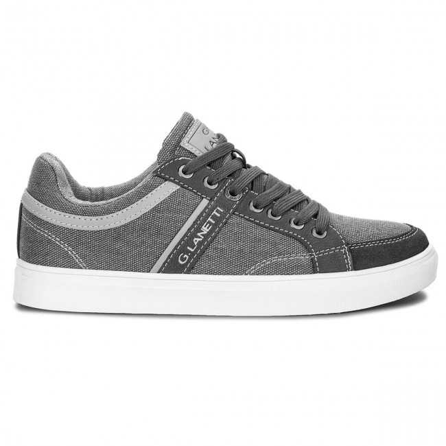 Sneakers Spring summer Mp07 2017 01 Homme Lanetti Gris Chaussures Basses Gino 16389 bf6IyvmY7g