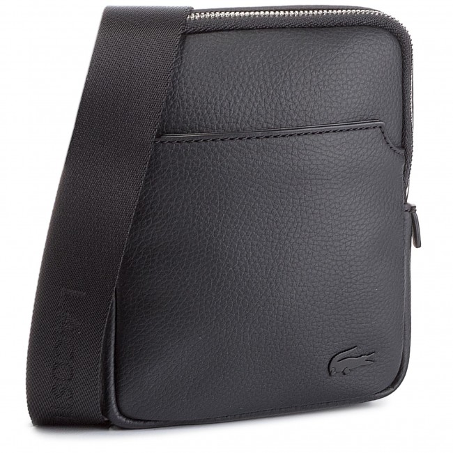 642b33d433 Sacoche LACOSTE - Small Flat Crossover Bag NH1739GL Black 000 ...