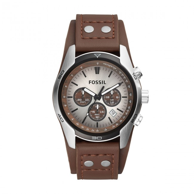 Montre winter Accessoires Fall Coachman steel silver Fossil Homme Ch2565 Montres Brown 2018 Dark stdhCrQx