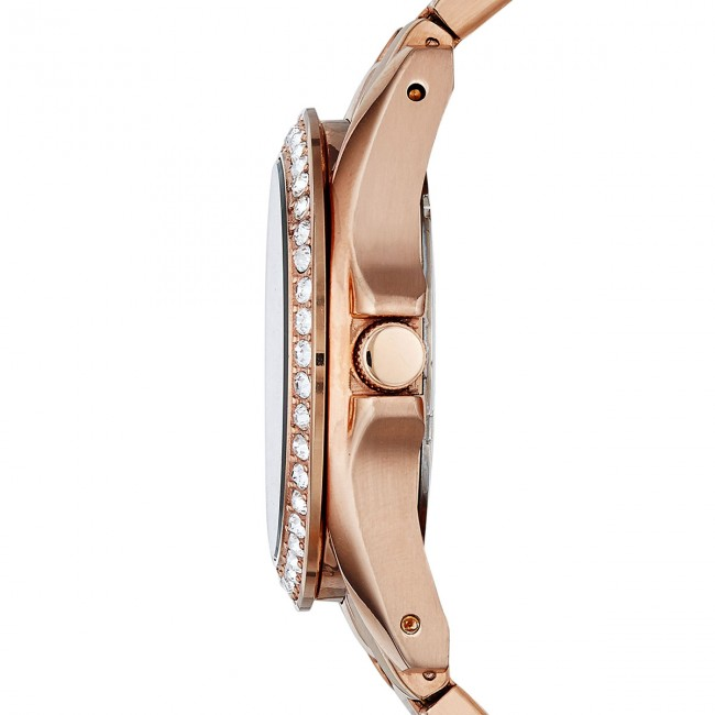 Fall Es2811 Gold Montre 2018 Rose Montres Fossil Accessoires Femme Riley winter rose m8n0vyNwO