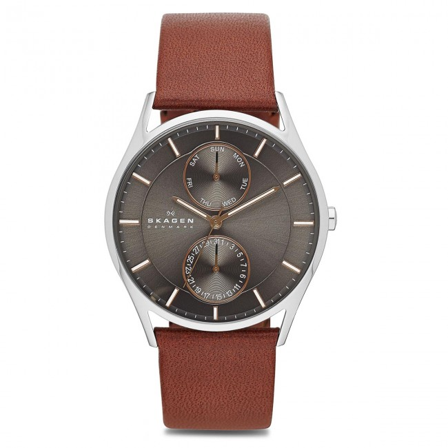 Light Homme winter Skagen steel Accessoires Skw6086 2018 Hoist Brown Montre Montres Fall silver KFJTl1c
