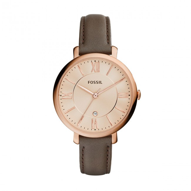 Accessoires winter Fossil Es3707 Montres Jacqueline rose Gray Femme Fall Montre Gold 2018 N08nwmvO