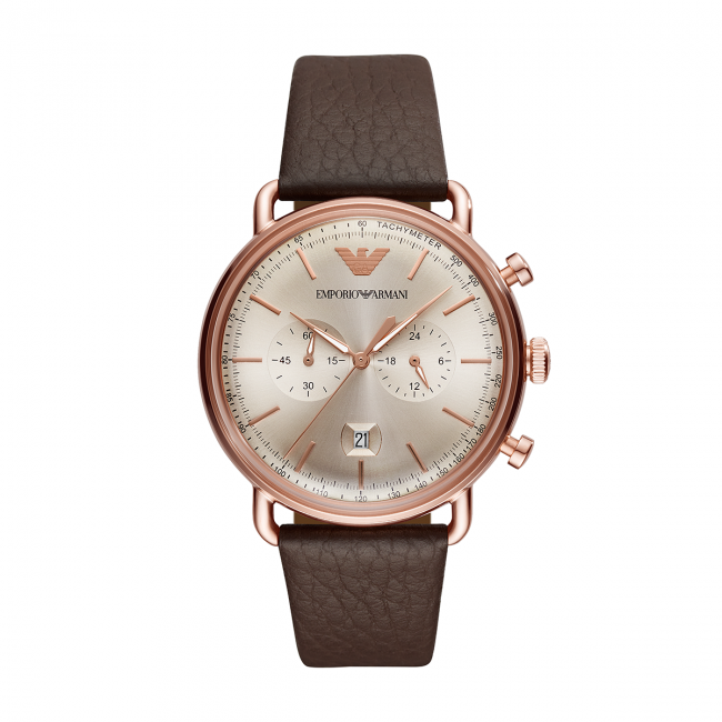 Montres Homme winter Ar11106 Emporio Gold rose Montre Armani 2018 Brown Aviator Accessoires Fall N8yvP0nmwO