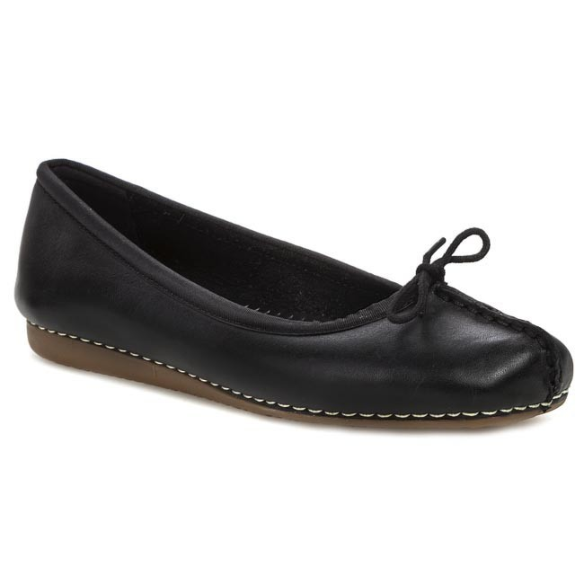 629a943bc9d Ballerines CLARKS - Freckle Ice 203529294 Black Leather - Ballerines ...
