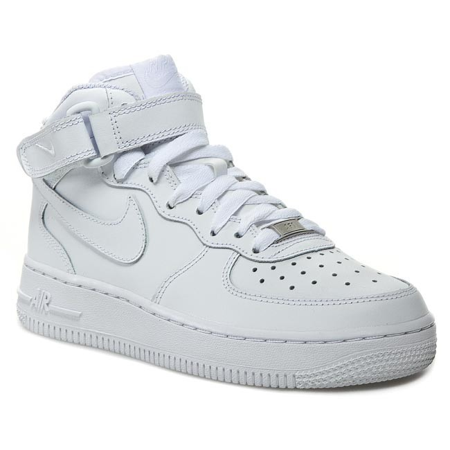 Nike Chaussures 315123 Force '07 1 Air 111 Mid Blanc I6by7Ygfv