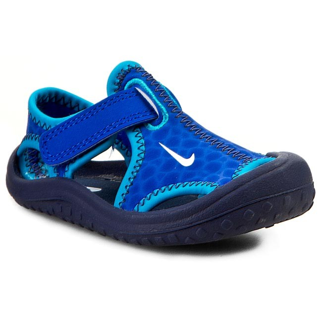 81fd82149b97a Sandales NIKE - Sunray Protect 344925 409 Lyon Blue White Mid Navy ...