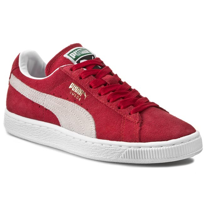 Classic352634 Chaussures Puma Suede Team 05 white Red Basses Regal Fl1KJcT3
