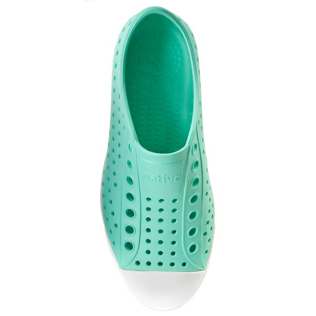 Jefferson Baskets summer Native 2015 shell Green White Chaussures Femme Sneakers Glass Spring Basses nvwmN8O0
