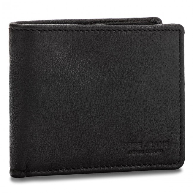 72e528ee9cd Portefeuille homme grand format PEPE JEANS - Beal Wallet PM070293 Black 999