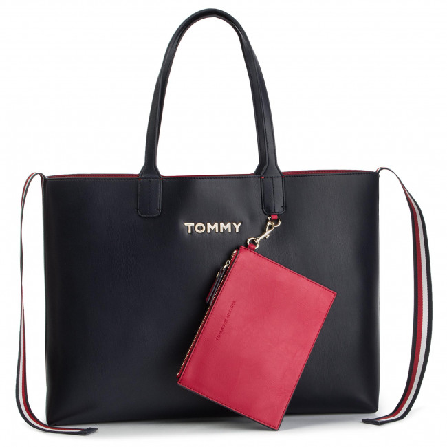 cfae8bf7ee Sac à main TOMMY HILFIGER - Iconic Tommy Tote AW0AW06833 413 - Cabas ...