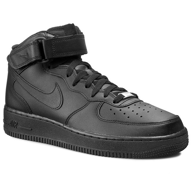 Force Black Nike '07 Chaussures Mid 1 315123 001 Air 08PkXnONw