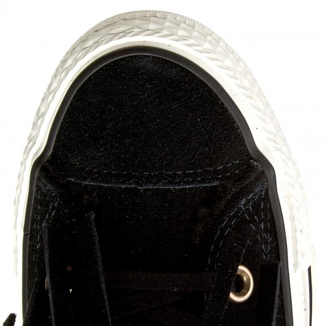 egret black shearling Sneakers Converse Hi Fringle Black Ctas Suede 553358c 7vYbf6gy