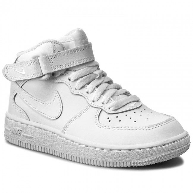 Chaussures NIKE Force 1 Mid (PS) 314196 113 WhiteWhiteWhite