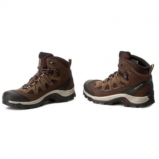 vintage Trekking Gore tex Chaussures V0 Black 394668 Ltr Gtx 27 Coffee Salomon chocolate Authentic De Brown Khaki htQrsdC