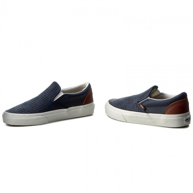 Frais Vans Classic Slip On Perf Leather Chaussures