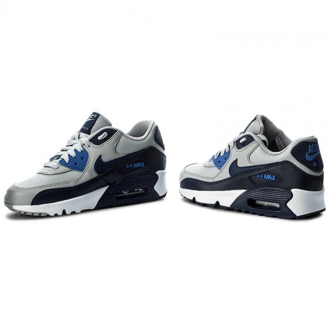 Chaussures NIKE Air Max 90 Ltr (Gs) 833412 009 Wolf GreyBinary Blue