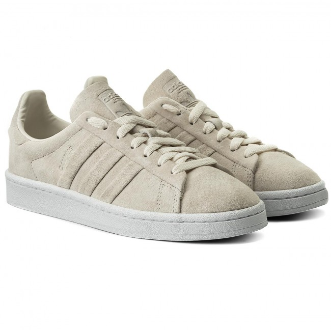 Chaussures Adidas - Campus Stitch And Turn Bb6744 Cwhite/cwhite/ftwwht Sneakers Basses Femme