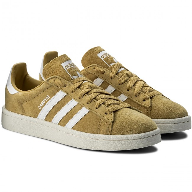 Chaussures adidas - Campus CQ2082 Pyrite/Ftwwht/Cwhite - Sneakers - Chaussures basses - Femme