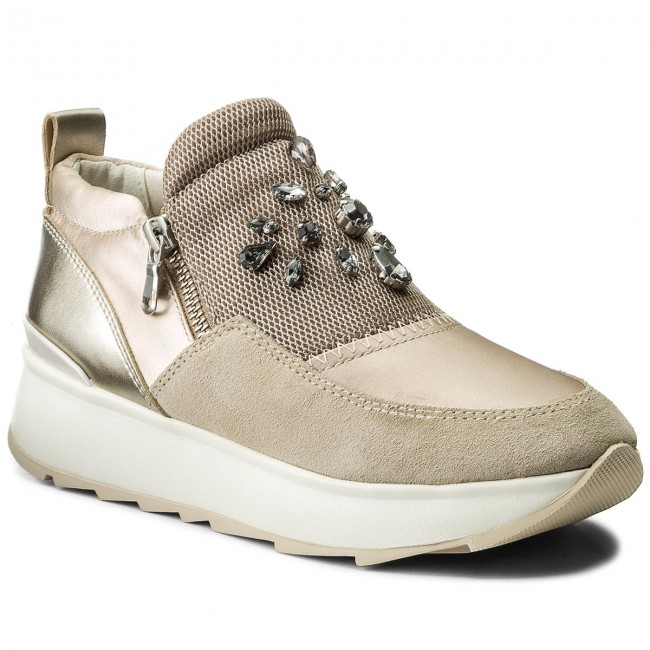 Sneakers GEOX D Gendry A D745TA 01222 CA5H6 SkinLt Taupe