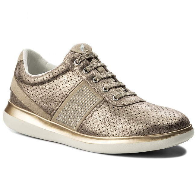 Sneakers GEOX D Gomesia B D828GB 0CD22 C9HH6 LeadLt Taupe