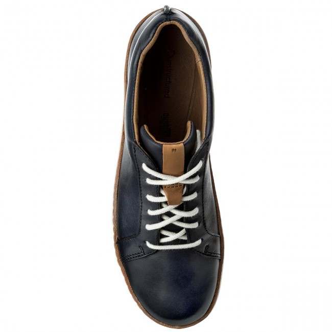 Leather Clarks Amberlee 261312314 Chaussures Basses Navy Rosa CBrxedo