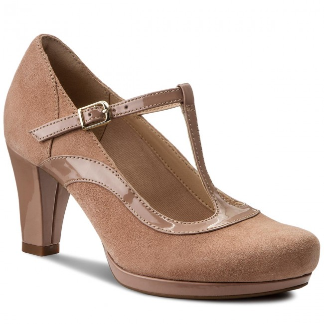 Chaussures basses CLARKS Chorus Pitch 261319744 Beige Combi