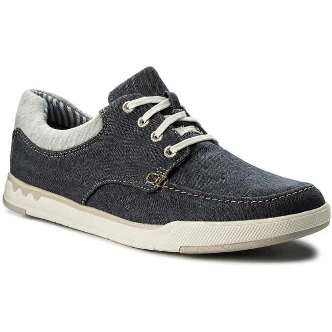 Step 261327647 Isle Navy Canvas Basses Clarks Chaussures Lace 2YD9HIEeWb