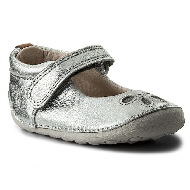 Chaussures basses CLARKS Tiny Eden Silver Leather