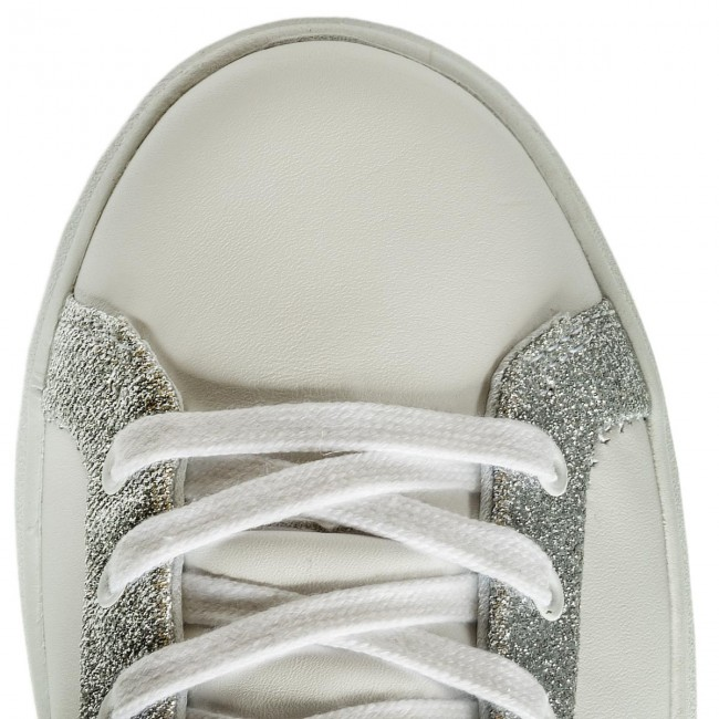 Sneakers Skechers - Glitter Highway 73695/wsl White/silver Chaussures Basses Femme
