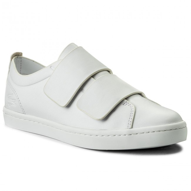775821830d32 Sneakers LACOSTE - Straightset Strap 118 1 Caw 7-35CAW007121G Wht/Wht -  Sneakers - Chaussures basses - Femme - chaussures.fr