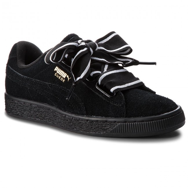 puma suede heart satin ii sneakers basses femme