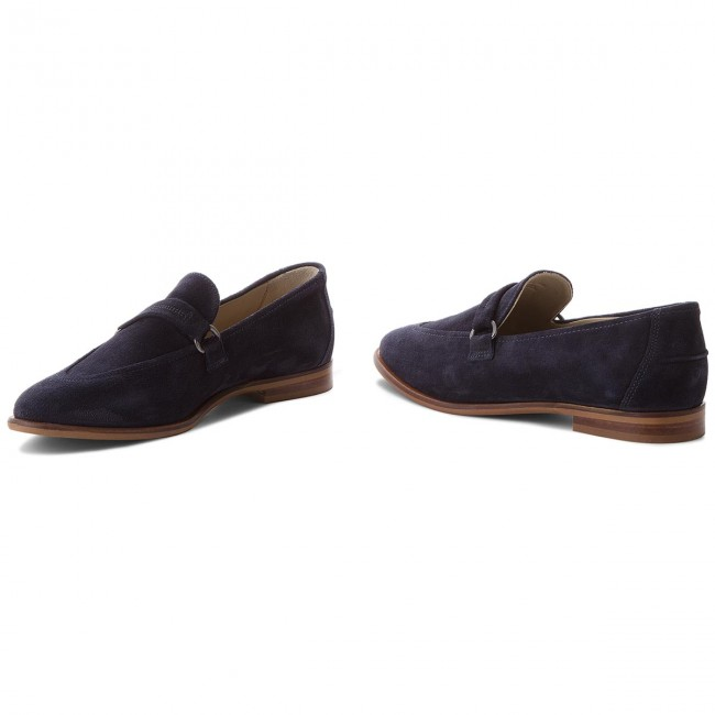 Chaussures Basses Marc O'polo - 802 14153201 300 Navy 890 Plates Femme