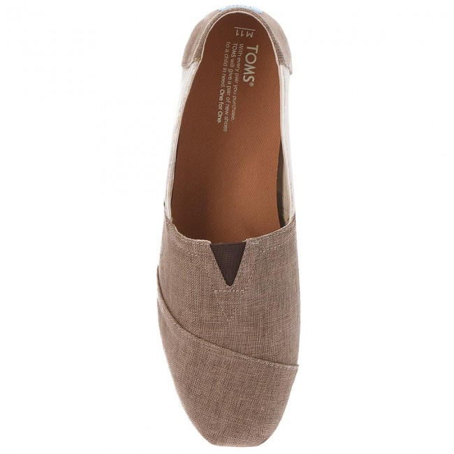 Chaussures basses TOMS - Classic 10011581  Toffee Coated - Détente - Chaussures basses - Homme