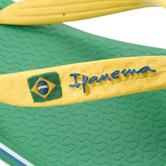 Tongs IPANEMA - Clas Brasil II Ad 80415 Green/Yellow 23183 - Tongs - Mules et sandales - Homme