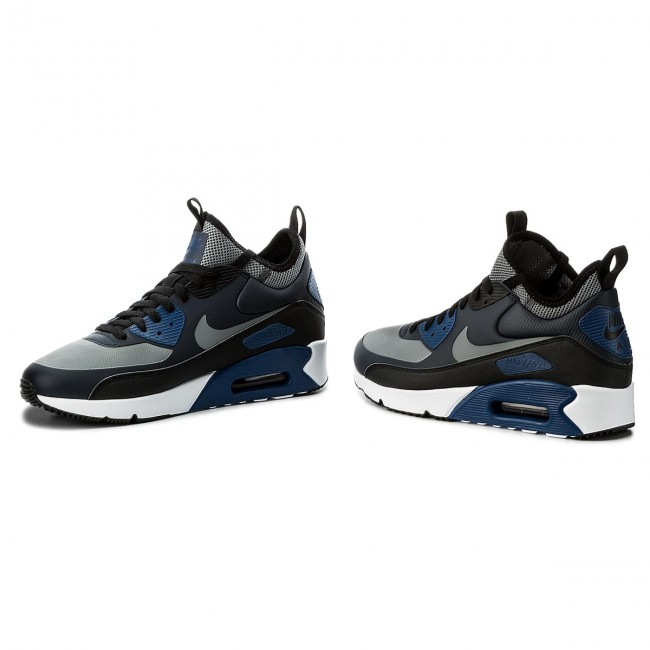 Chaussures NIKE Air Max 90 Ultra Mid Winter 924458 401 ObsidianCool GreyBlack