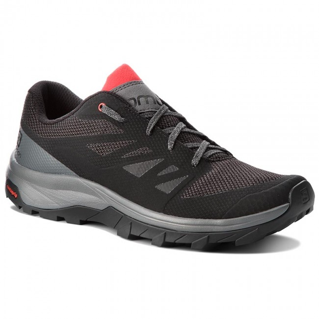 Chaussures de trekking SALOMON - Outline 404775 30 M0 Black/Quiet Shade/High Risk Red