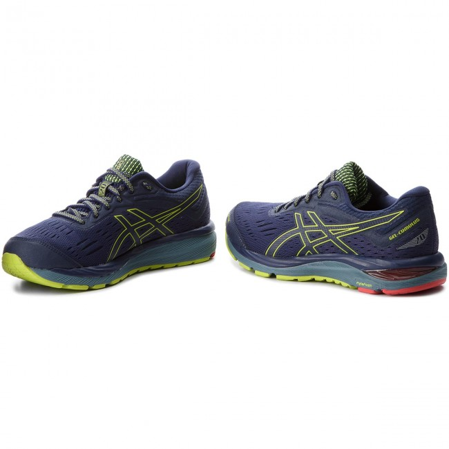 Shoes ASICS Gel Cumulus 20 G Tx GORE TEX 1011A015 PeacoatNeon Lime 400
