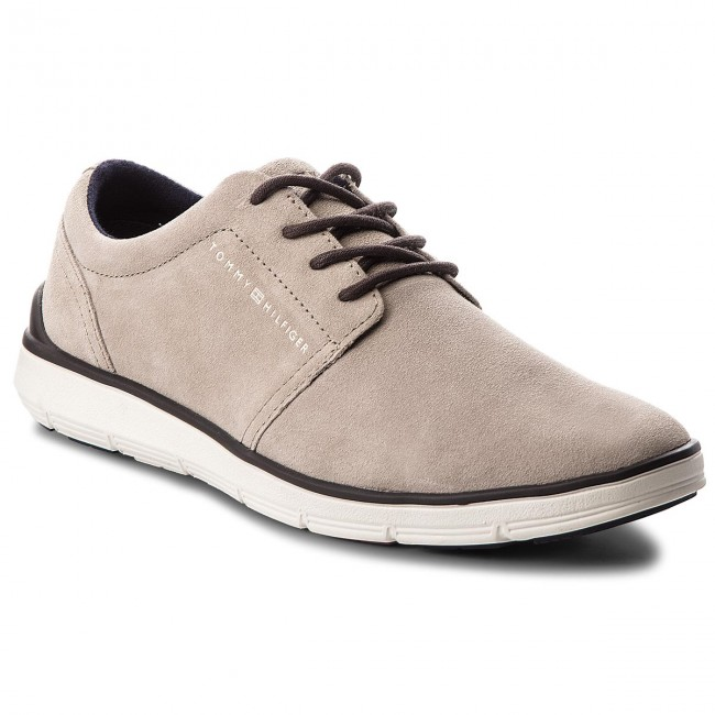 Chaussures basses TOMMY HILFIGER Lightweight City Suede Shoe FM0FM01610 Taupe 255