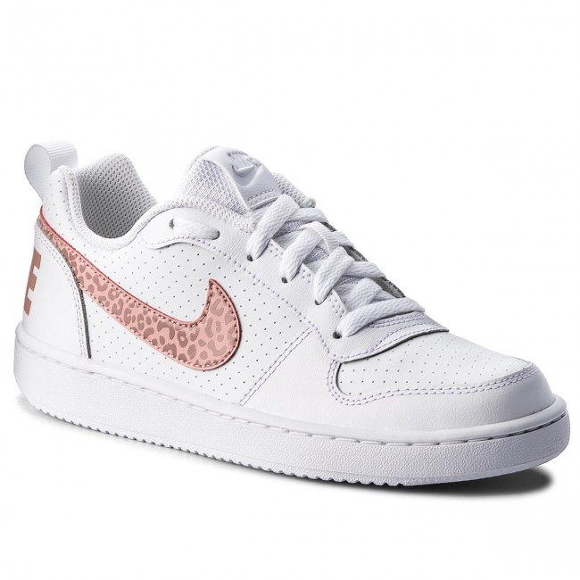 Chaussures NIKE Court Borough Low (GS) 845104 101 WhiteRust PinkCoral Stardust