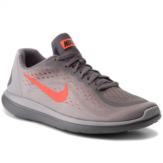 Chaussures NIKE Flex 2017 Rn (GS) 904236 010 GunsmokeTotal Crimson