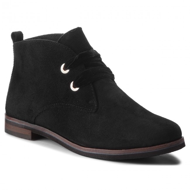 Caprice Bottines 21 Black 004 25104 Suede 9 nPXOk08w